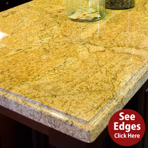 granite counter top top edges charlotte nc